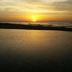 Sea sand sea sunset