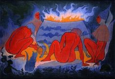 Witches around the fire - Paul Ranson