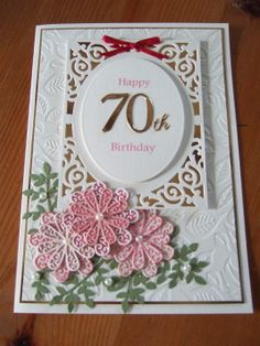 Rosie Design 70th Birthday Card