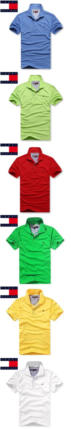 TOMMY HILFIGER High Quality Tops&Tees Solid color Men Polo 3D Embroidery Poloshirt Casual Polo Shirts men's polo shirt Brand