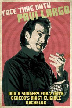 Pavi Largo poster.  Repo!