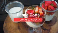 Panna cotta con miel y menta Panna Cotta, Vegetables, Food, Tostada Recipes, Yogurt, French Toast, Strawberry Fruit, Mint, Honey