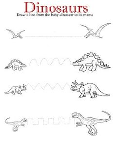 Dinosaurs Drawing/Cutting Lines                                                                                                                                                                                 Más