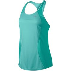 Nike Racer Tank Top Blue ($28) ❤ liked on Polyvore featuring activewear, activewear tops, nike sportswear, nike activewear and nike