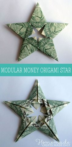 A Crafty Arab: 99 Creative Star Projects. modular money origami star front