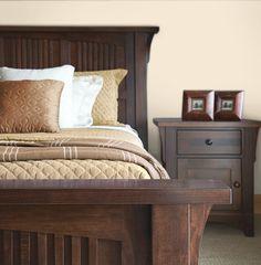Color comparison - bedroom. Red cream. www.PrestigePaints.com