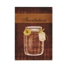 sunflower #rustic #masonjar wedding invites and matching stationery by #mgdezigns. Perfect for a country wedding or an outdoor wedding