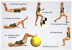 Knee strengthening exercises This routine of knee strengthening exercises will challenge your thigh, hip and leg muscles to improve your strength and balance. Building the support for your knee joint in this way will also help improve your resistance to injury.