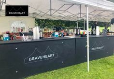 This page is the Mobile Bar Hire Glasgow Edinburgh and Throughout Scotland of the Braveheart Catering and Bars website. Glasgow, Edinburgh, Catering, Bar Hire, Mobile Bar, Braveheart, Outdoor Settings, Scotland