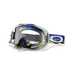 9ccddfae35 Oakley Crowbar MX Fastline Adult Dirt Motocross Off-Road Dirt Bike  Motorcycle Goggles Eyewear - Blue Yellow Clear   One Size Fits All