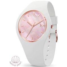 Ice Watch, Bracelet Silicone, Pearl White, Gold Watch, Pink, Rose Gold, Chopsticks, Watches, Pearls