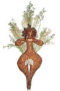 Corn dolly to represent Brigid Wiccan Sabbats, Pagan, Jesus In The Temple, Corn Dolly, Nature Witch, Fire Festival, St Brigid, Groundhog Day, Irish Celtic