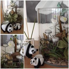 """the pandas are going . also PartyLite has reached this """"wave"""". Very nice . - The most beatiful home designs Christmas Arrangements, Christmas Tree Decorations, Partylite, Earth Hour, Bright Homes, Beach Holiday, Ladder Decor, Create Yourself, Waves"""