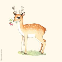Hey, I found this really awesome Etsy listing at http://www.etsy.com/listing/166500648/deer-print-deer-painting-deer