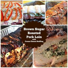 Brown Sugar Roasted Pork Loin with Cream Cheese Stuffing. This is a lovely recipe using tender pork loin, stuffed with peppers, cream cheese, spinach and garlic then rolled with a delicious Brown sugared spice rub.  Brown Sugar Roasted Pork Loin with Cream Cheese Stuffing. This is a lovely flavorful recipe and sure to keep your …