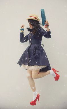 navy dress and shoes