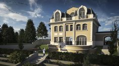 Large House Plans, Large Homes, Mansions, House Styles, Attic, Model, Top, Houses, Design