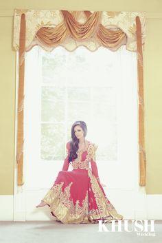 Pink & Gold Bridal Anarkali by Ekta Solanki  T: +44(0)7957 465 901  E: info@ektasolanki.com  W: ektasolanki.com  As seen in the Autumn 2013 Issue of Khush Wedding Magazine