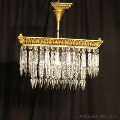 Antiques Atlas - An Italian Gilded 4 Light Antique Chandelier