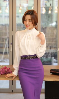 N - Korean Fashion Trends blouse summer blouse style blouse ideas Skirt Fashion, Hijab Fashion, Fashion Dresses, Women's Fashion, Korean Fashion Trends, Asian Fashion, Unique Prom Dresses, Casual Dresses, Skirt Outfits