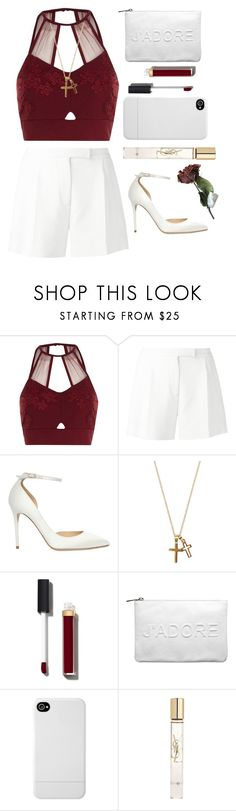 """""""#00093"""" by nglmfrryln ❤ liked on Polyvore featuring River Island, Elie Saab, Jimmy Choo, Chanel, Miss Selfridge, Incase and Yves Saint Laurent"""