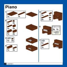 Lego Design, Legos, Bloc Lego, Casa Lego, Lego Furniture, Lego Challenge, Lego Sculptures, Lego Pictures, Lego Activities