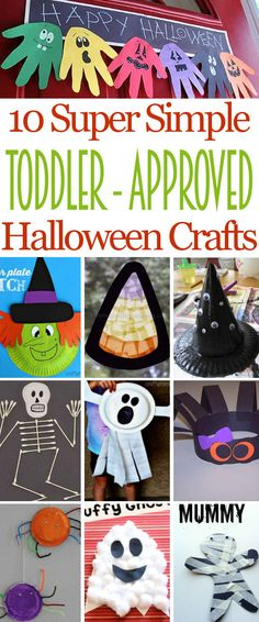 10 Fun Toddler-Approved Halloween Crafts