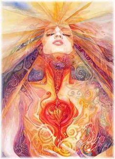 第三の目の特徴の女性の宇宙につながるような美しいイラスト
