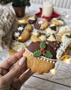 Christmas Party Food, Christmas Sweets, Christmas Drinks, Christmas Cooking, Christmas Goodies, Ginger Bread Cookies Recipe, Cookie Recipes, Fun Deserts, Winter Food