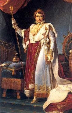 Napoleon I in coronation outfit. Painting by François Gérard, 1805 (Palace of Versailles, Versailles, France)