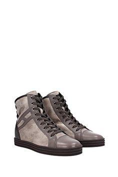 HOGAN REBEL HighTop Sneaker TG. D 36 NERO MARRONE DONNA SCARPE SHOES PELLE