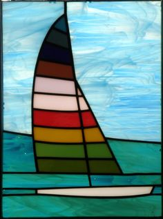 Stained Glass Sailboat Pattern