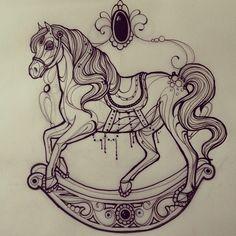 Zu den beliebtesten Tags für dieses Bild zählen: horse, art, horse tattoo, ink und tattoo