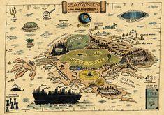 Karte von Zamonien // by Walter #Moers