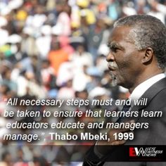 Thabo Mbeki, 1999 Black People, Looking Up, Ecards, Education, Learning, Face, Quotes, Quotations, Black
