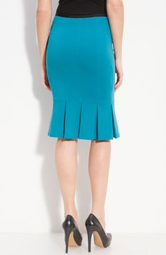 Free shipping and returns on Nanette Lepore 'Sacada' Pleat Hem Pencil Skirt at Nordstrom.com. A box pleated hemline and vertical seam details define a fitted pencil skirt with plenty of feminine appeal.
