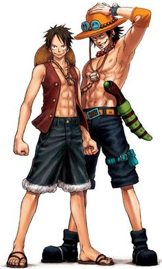 Portgas D. Ace & Monkey D. Luffy - One Piece,Anime