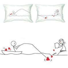 Couple Pillowcases-Romantic Valentine's Day Gifts for Couples,Cute Valentine's Day Gifts for Him or Her,Valentines Day Gift Ideas $36.00