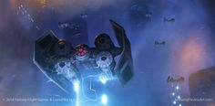 Home One and some B-wings punching through Imperial battle lines. Box art done for the new Star Wars Armada miniatures game by FFG. You can check out the game here >> www.fantasyflightgames.c...