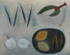 Beans, Pestle and Mortar, Apple and Lemons by Vivienne Williams