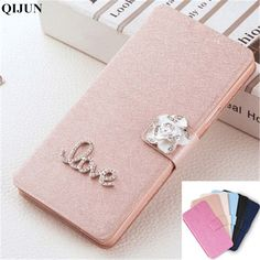 QIJUN Brand PU leather Luxury Flip Cover For HUAWEI honor 2 U8950 U9508 G600 honor2 G 600 Phone Case Cover Protective shell #Affiliate