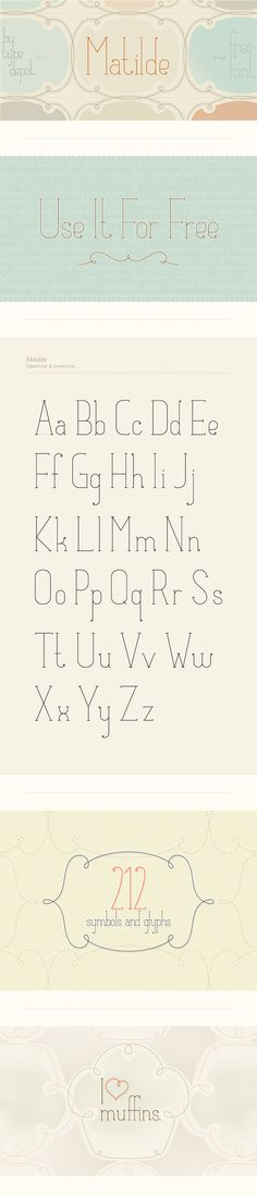 Elegant Free Font and Frames!  Free for Commercial and Personal Use.