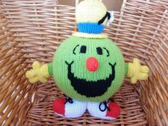 Mr Funny Toy is designed by Alan Dart by Marionsknittedtoys on Etsy