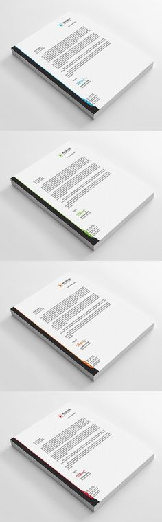 Letterhead Design Template For Fast Food Restaurants Cafe
