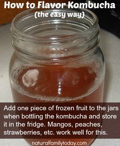 How to flavor kombucha the easy way! #fermentedfood #cultured #wapf #probiotic @Melissa Family Today