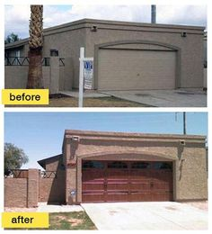 Exterior home garage door remodeling can make a big difference!