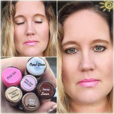 Lighter look using #pinkice #opalgloss #shadowsense #lipsense #timelesselegancebytara