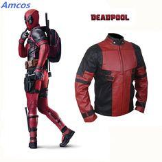 Deadpool Costume Wade Winston Wilson Superhero Series Superhero Costume Cosplay Tops Faxu Leather Jacket Zipper Outwear