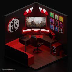 Aviator Gaming: Best store for digital games Gamer Setup, Gaming Room Setup, Bedroom Setup, Home Decor Bedroom, Computer Gaming Room, Gaming Rooms, Small Game Rooms, Diy Home Cleaning, Video Game Rooms