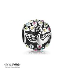 Soufeel Peacock Charm 925 Sterling Silver Compatible All Brands Basic Bracelet. For Every Memorable Day